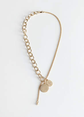 And other stories Split Chain Pendant Necklace