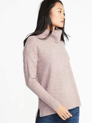 Old Navy Slouchy Garter-Stitch Turtleneck Sweater for Women