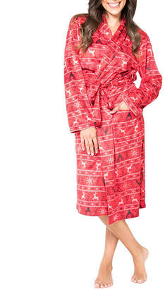 Asstd National Brand Red Fairisle Family Pajama Robe- Women's