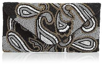 From St Xavier Paisley Beaded Clutch
