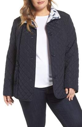 Gallery Print Collar Quilted Jacket