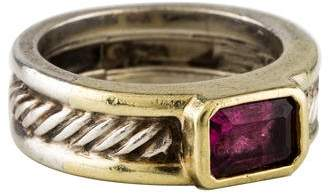 David Yurman Garnet Cable Ring