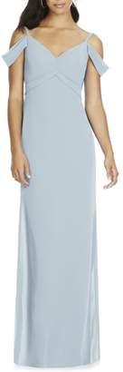 Social Bridesmaids V-Neck Chiffon Cold Shoulder Gown