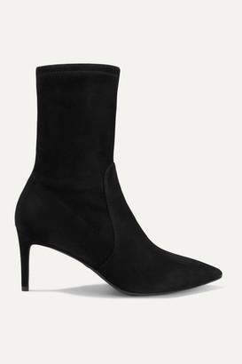 Stuart Weitzman Wren Suede Ankle Boots - Black
