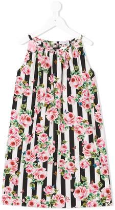 Dolce & Gabbana striped floral dress