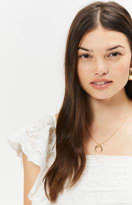 LA Hearts Gold Horn Pendant Necklace