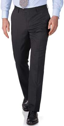 Charles Tyrwhitt Charcoal Slim Fit End-On-End Business Suit Wool Pants Size W30 L38