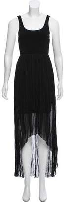Alice + Olivia Pleat High-Low Dress
