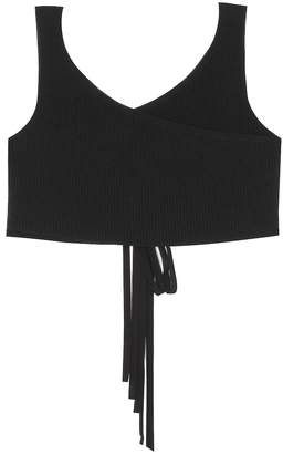 The Row Drew cotton-blend knitted crop top