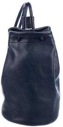 Delvaux Pebbled Leather Backpack
