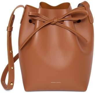 Mansur Gavriel Calf Mini Bucket Bag - Saddle