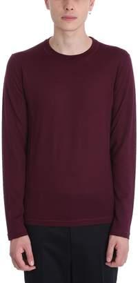 Jil Sander Basic Bordaux Wool Sweater