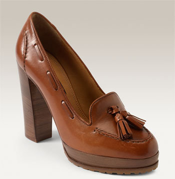 Ralph Lauren Collection 'Gianna' Platform Loafer Pump