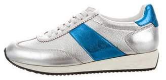 Saint Laurent Metallic Low-Top Sneakers