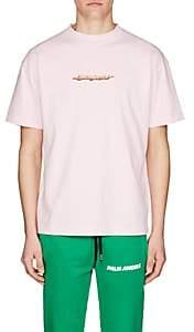 Palm Angels Men's Arrow-Logo Cotton T-Shirt - Pink