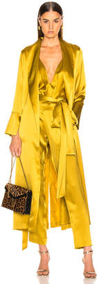 Michelle Mason Trench Coat With Flare Cuffs