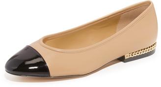 MICHAEL Michael Kors Sabrina Ballet Flats $125 thestylecure.com