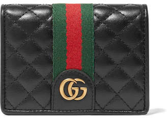 Gucci Trapuntata Quilted Leather Cardholder - Black
