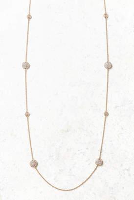 Long Pave Disc Necklace