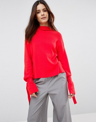 ASOS Sweater with Extra Long Sleeves and Cuff Detail $46 thestylecure.com