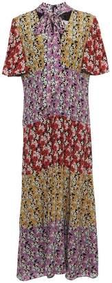 Valentino Floral Print Long Dress
