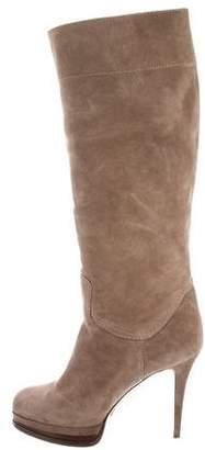Casadei Suede Platform Boots