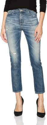 AG Adriano Goldschmied Women's The Isabelle High Rise Straight Crop Jean