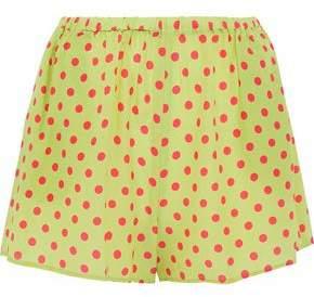 RED Valentino Polka-Dot Silk Crepe De Chine Shorts