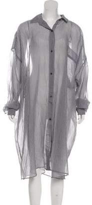 Dries Van Noten Oversize Button-Up Dress