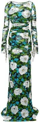 Diane von Furstenberg long sleeves floral dress