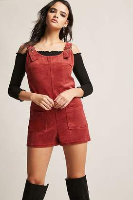 Forever 21 Corduroy Overall Shorts
