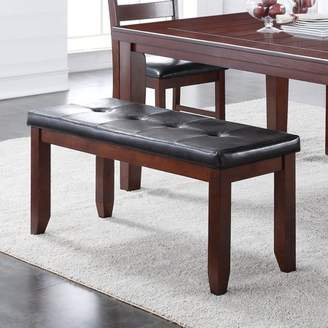 Home Source Classic Inspired Faux Leather Dining Set Bench