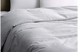 Matteo Black Tick Duvet Cover - White