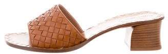 Bottega Veneta Leather Woven Sandals