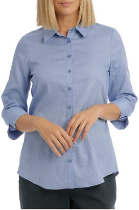 Regatta 3/4 Sleeve Longline Linen Blend Shirt