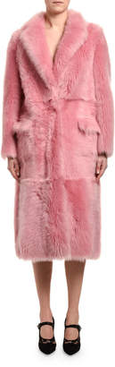 Blancha Long Sheepskin & Mink Fur Coat
