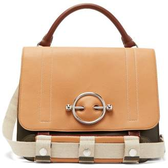 J.W.Anderson Disc Leather Satchel Bag - Womens - Brown Multi