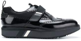 Prada block-sole leather brogues