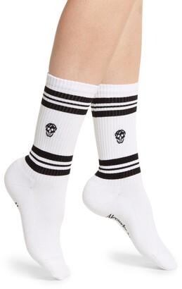 Alexander McQueen Skull Stripe Socks