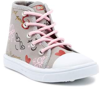 Nicole Miller Allover Print Canvas Hi-Top Sneaker (Toddler)
