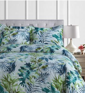 Rainforest Tribeca Living Madrid Printed Tropical Oversized King Duvet Cover Set Bedding