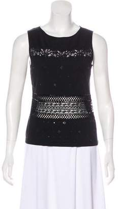 Valentino Embellished Sleeveless Top