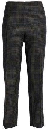 Checked Wool Slim-Leg Pants