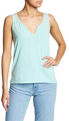 Poof Lace-Up Back Tank