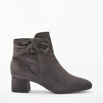 Peter Kaiser Tamina Bow Tie Block Heeled Ankle Boots