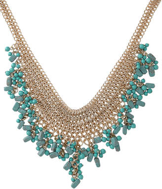Basque A70253BA Tropical Turquoise Chain Short Collar Necklace
