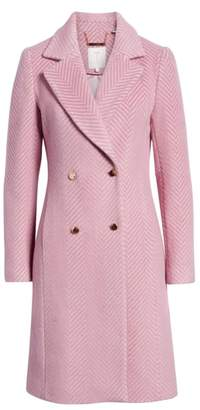 Ted Baker Chevron Wool & Cashmere Coat