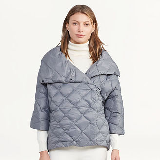 Ralph Lauren Quilted Mockneck Down Jacket $175 thestylecure.com