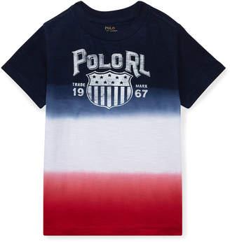 Ralph Lauren Childrenswear Ombre Short-Sleeve Logo T-Shirt, Size 5-7