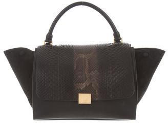 CelineCéline Medium Python Trapeze Bag